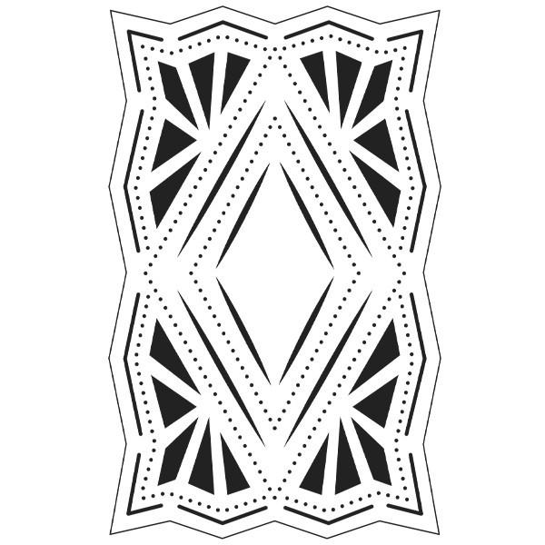 Präge-/Prickelschablone, 9,5 x 15 cm, Design 7