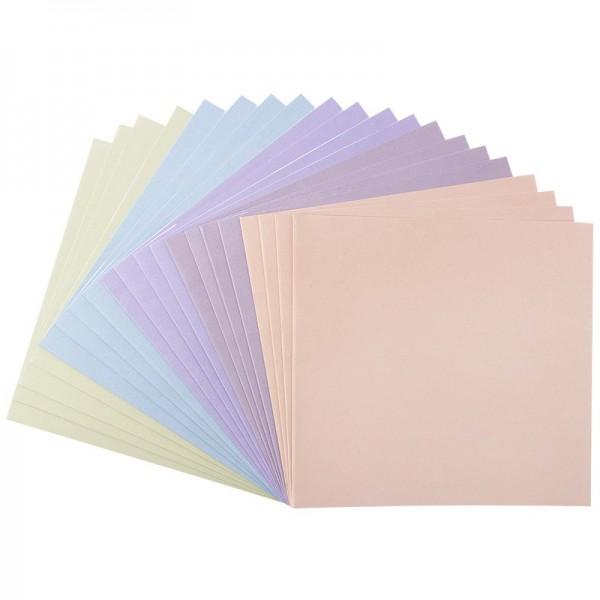 Karteneinleger, 15,5cm x 15cm, Pastelltöne, 20 Stück