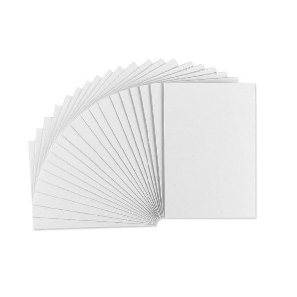 Grußkarten weiß, 215g/m², genutet, C6, 20 Stück