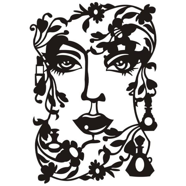 Silhouetten-Laser-Schablone, 26,5 cm, Gesicht