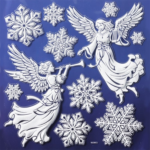 Glimmer-Relief-Sticker XL, Winter 3, 31 x 30 cm