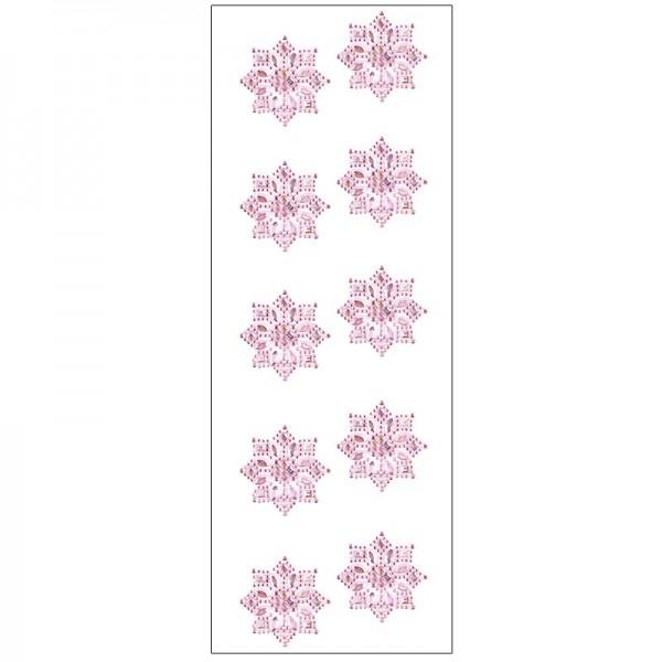Kristallkunst, Ornament 1, selbstklebend, 10cm x 30cm, hellrosa irisierend