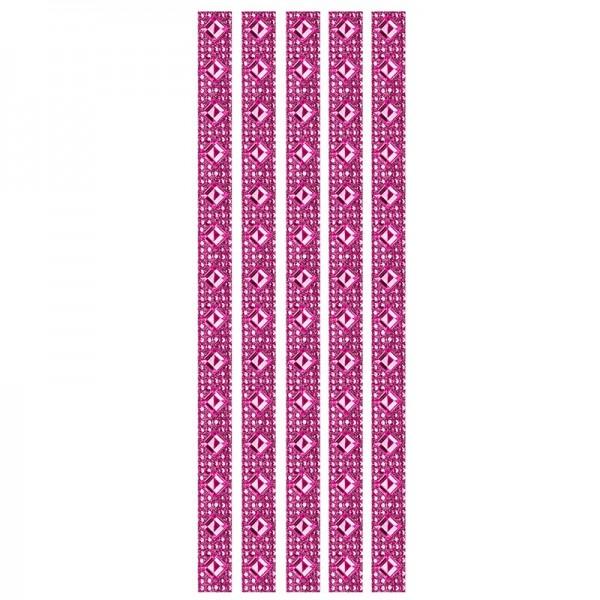 Royal-Schmuck, 5 selbstklebende Bordüren, 29 cm, fuchsia