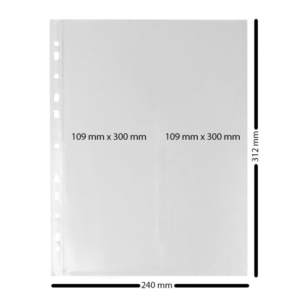 Sticker-Hüllen zum Abheften, 50 Stück