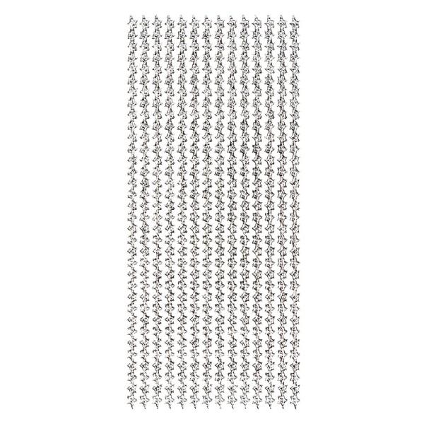 Microglitter-Sticker, Sternen-Bordüre, silber
