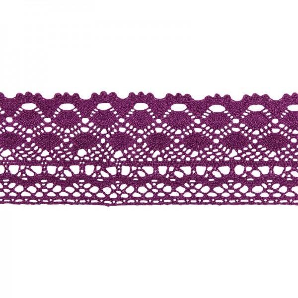Häkelspitze Design 2, 3,7cm breit, 2m lang, aubergine