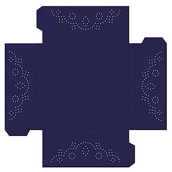 Prickelpodest für Deko-Lichtwürfel, 11x11cm, dunkelblau