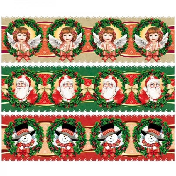"""Zauberfolien """"Weihnachtsfreude"""", Schrumpffolien für Ø8cm, 7,5cm hoch, 6 Stück"""