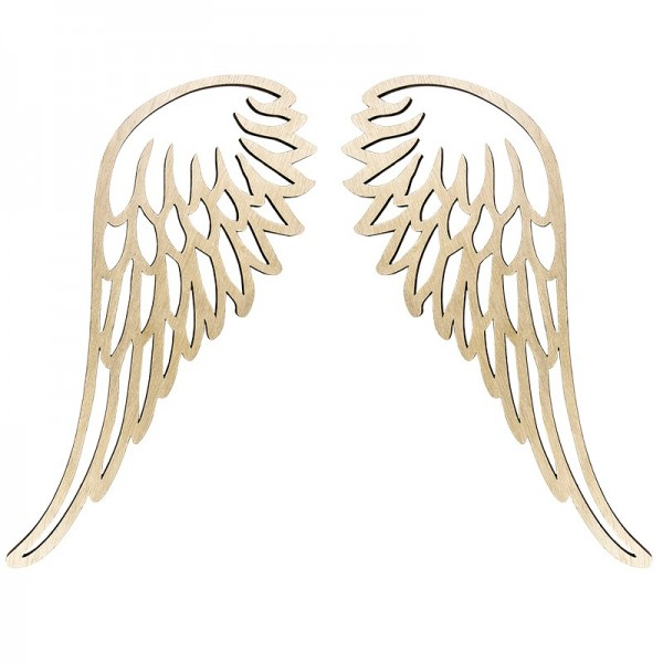 Engelsflügel aus Holz, 34,5cm x 13,5cm (ein Flügel), 2 Stück