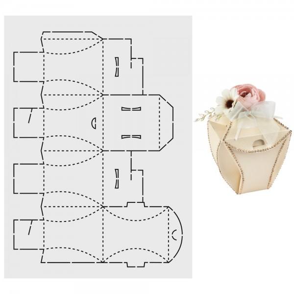 """Design-Schablone """"Pralinen-Box 2"""", A3"""