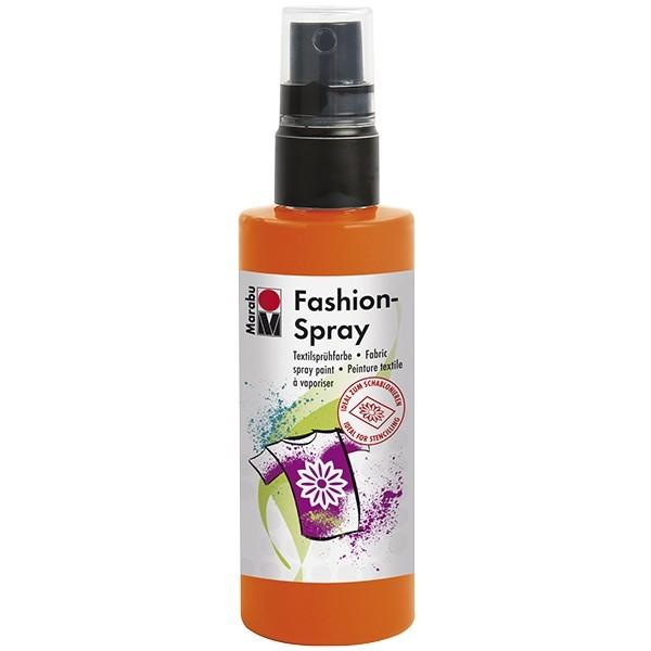 Marabu Fashion-Spray/Textil-Sprühfarbe, 100ml, rotorange
