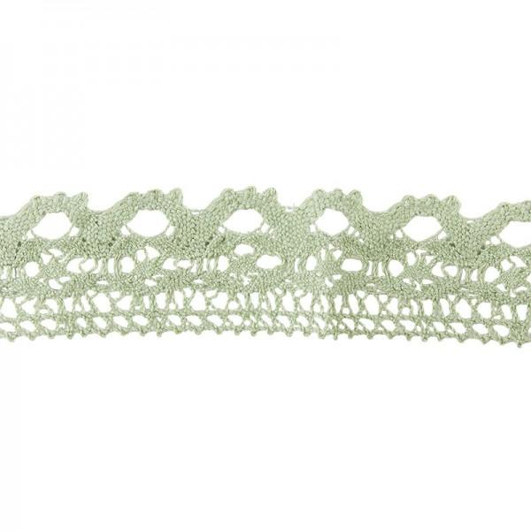 Häkelspitze Design 11, 2,8cm breit, 2m lang, grün