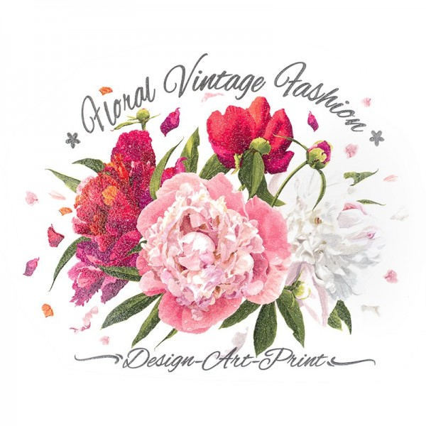 Color Bügeltransfer, Glitzer, DIN A4, Blumen 5