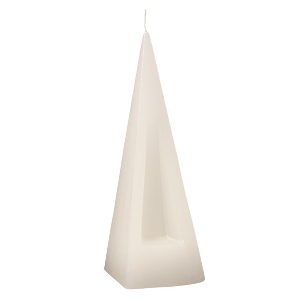 Pyramiden-Kerze, Weiß, ca. 200 x 65 mm, 2 Stück, OUTLET-SET