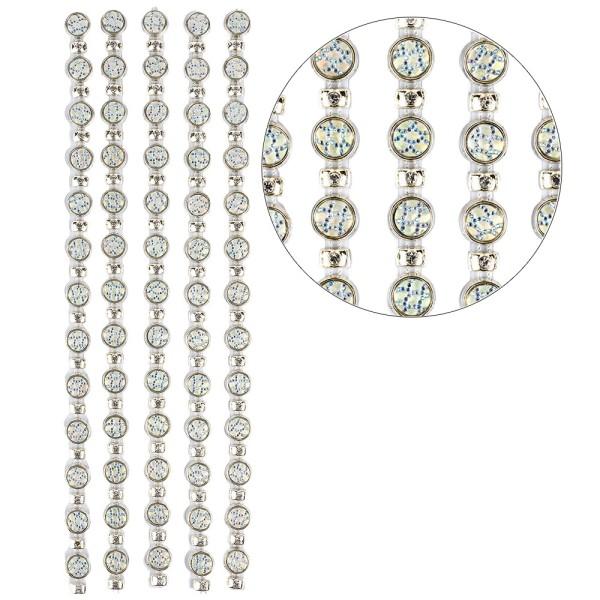 Premium-Schmuck-Bordüren, Bracelet 14, selbstklebend, 28cm, mit Glaskristallen, hellgold