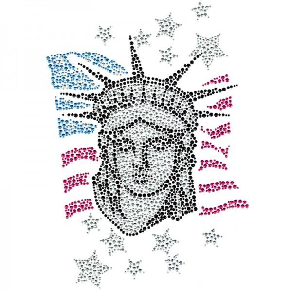 Bügelchaton-Design, DIN A4, mehrfarbig, Lady Liberty