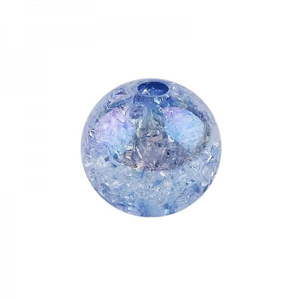 Perlen, Crackle, Ø 8mm, blau-irisierend, 100 Stk.
