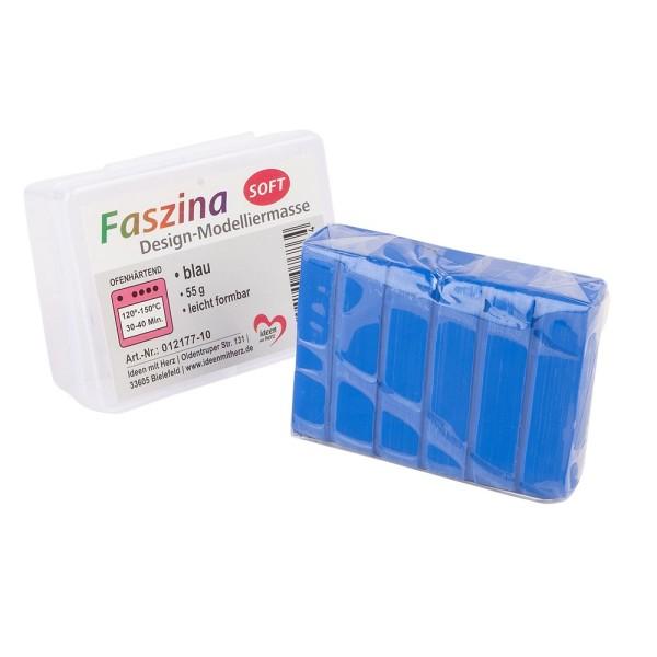 Faszina Soft, Design-Modelliermasse, blau, 55g, leicht formbar, ofenhärtend