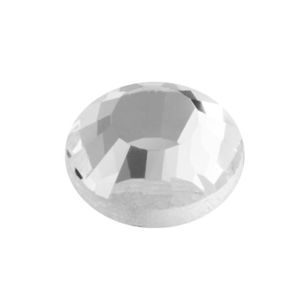 Hot-Fix Glas-Kristalle zum Aufbügeln, Ø10mm, 50 Stk., transparent