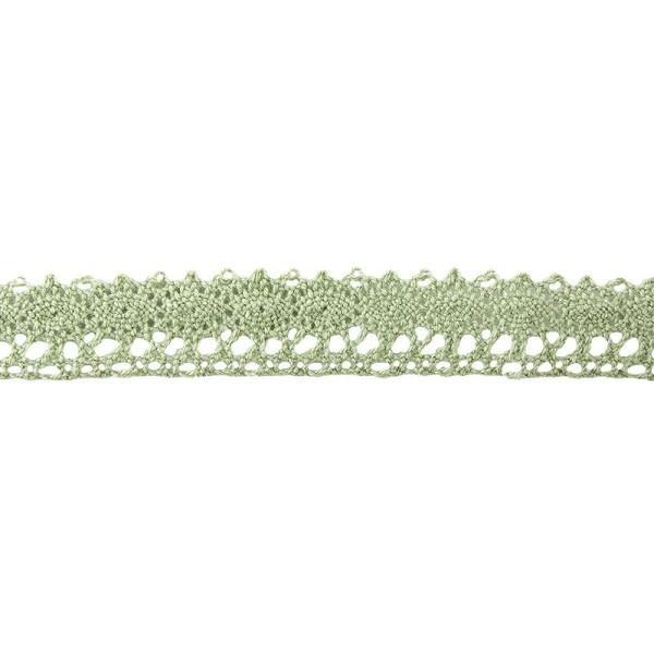 Häkelspitze Design 5, 1,7cm breit, 2m lang, grün