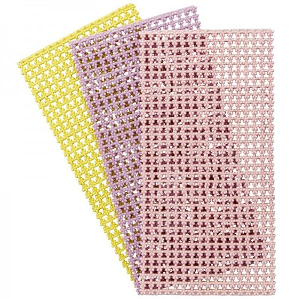 Wachs-Bordüren, Blüten, 6 mm breit, 3er Set