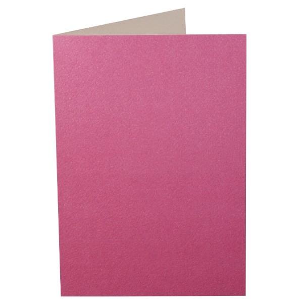 Doré-Doppelgrußkarte, fuchsia, B6
