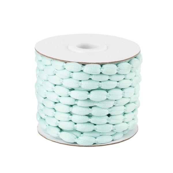 Pompon-Band, Ø 1cm, 10m, auf Rolle, mint