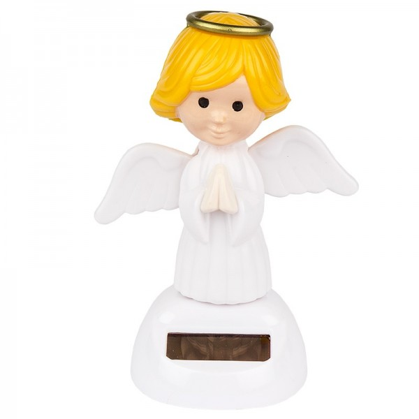 Solar-Wackelfigur, 11cm hoch, Engel