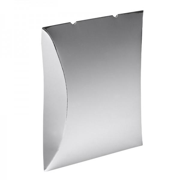Kissentaschen, 10 x 11,4 cm, Spiegelkarton, silber, 10 Stück