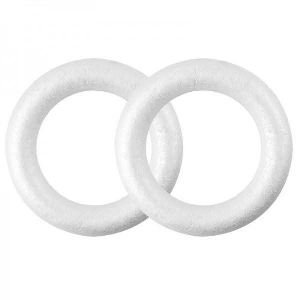 Styropor-Ringe, Ø 17cm, 2 Stück