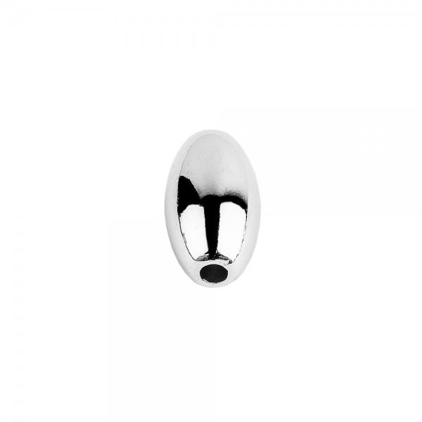 Perlen, Oval 1, 0,6cm x 1,1cm, silber, 230 Stück