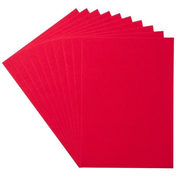 Deko-Papier/Stanz-Papier, 15,5 x 21,5 cm, 180g/m², 10 Blatt, rot