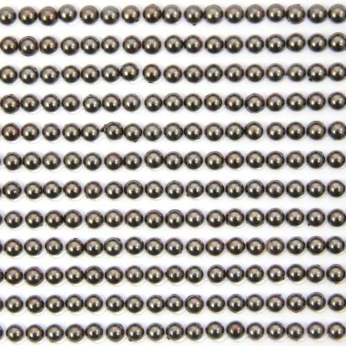 Halbperlen-Bordüren, selbstklebend, Ø5mm, 29 cm, braun, 12Stk
