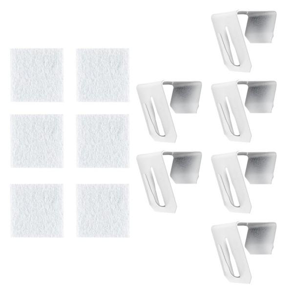 Deko Fenster- & Türhaken, Design 5, 3,5cm x 2cm x 3cm, weiß, 6 Stück