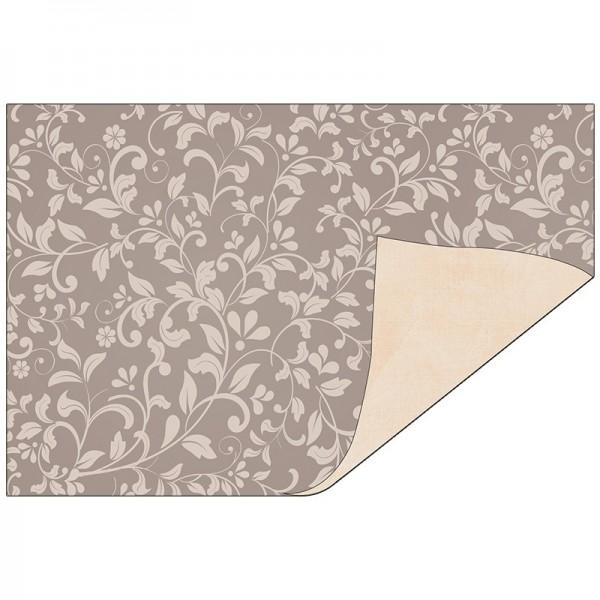 Faltpapiere Duo-Design 29, 10x15 cm, Ornamente/beige, 50 Stück