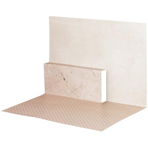 Pop-Up-Grußkarten-Einleger, gefaltet 11 x 15,5 cm, Punkte, beige