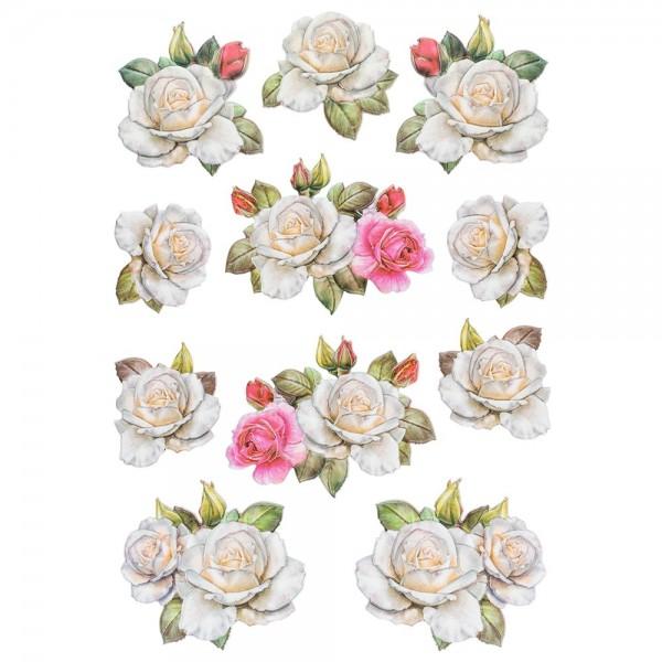 3-D Relief-Sticker, Blumen & Schmetterlinge 1, 21cm x 30cm, verschiedene Größen, selbstklebend