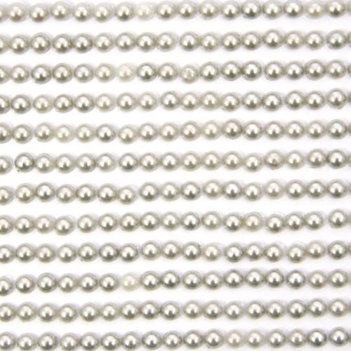 Halbperlen-Bordüren, selbstklebend, Ø5mm, 29 cm, gold, 12Stk