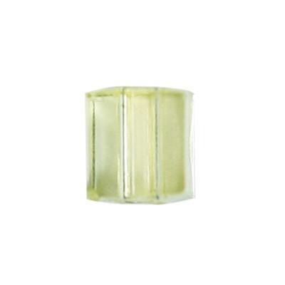 Würfel-Perlen, transparent, 5mm, gelb, 100 Stück