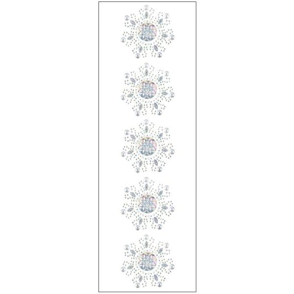 Kristallkunst, Blüten-Ornament 1, 10cm x 30cm, klar irisierend
