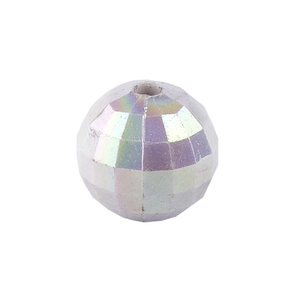 Perlen, facettiert, Ø 8 mm, silber-irisierend, 100 Stk.