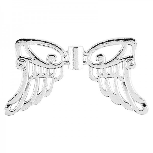 Filigrane Engelsflügel, Design 5, 1,9cm, silber, 30 Stück