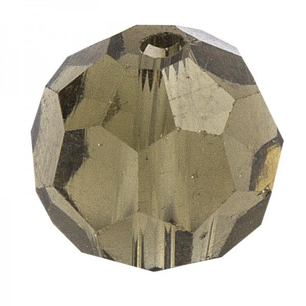 Glaskunst, Perlen, Kugel, Ø 1cm, facettiert, klar hellgrau, 30 Stück