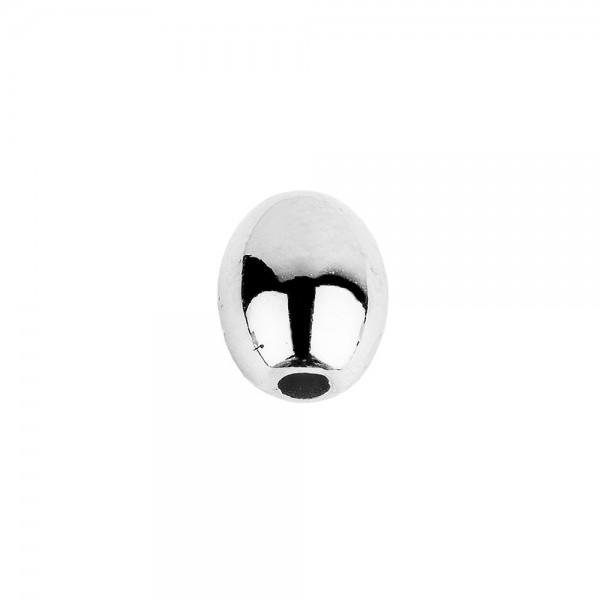 Perlen, Oval 2, 0,9cm x 0,7cm, silber, 210 Stück