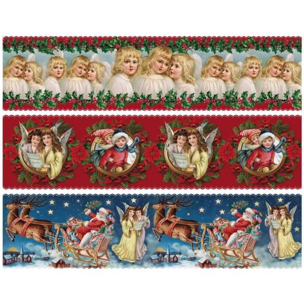 """Zauberfolien """"Weihnachten Vintage Style"""", Schrumpffolien für Ø8cm, 7 cm hoch, 6 Stück"""