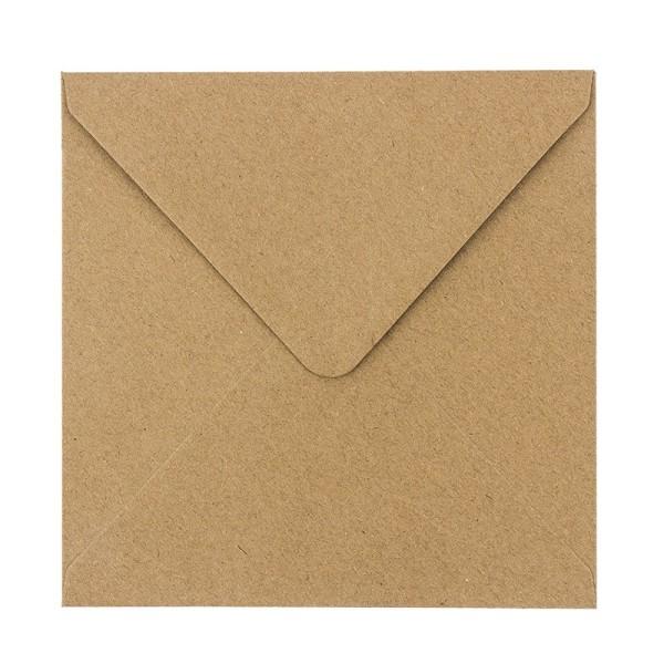 Umschläge, Kraftpapier, 15,5cm x 15,5cm, 110 g/m², 100 Stück