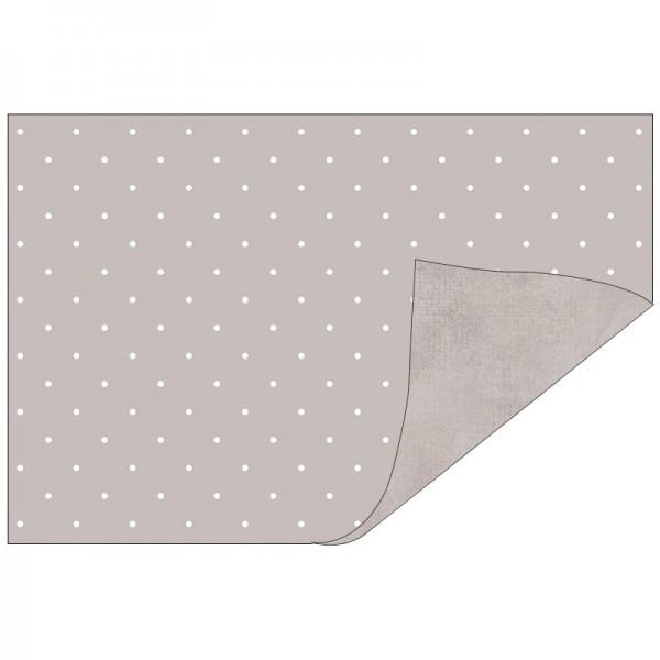 Faltpapiere, Duo-Design 34, 10cm x 15cm, Punkte/grau, 50 Stück