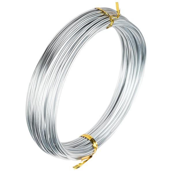 Alu-Draht, 10m lang, Ø 2mm, silber