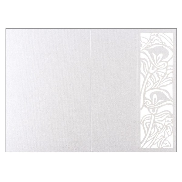 Laser-Grußkarten, Calla, B6, naturweiß, inkl. Einleger und Umschläge, 5 Stück