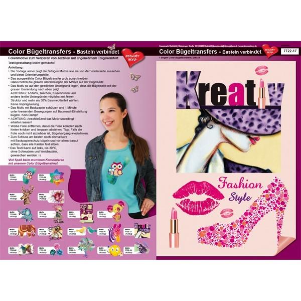 Color Bügeltransfers, DIN A4, Fashion & Style